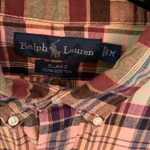 Ralph Lauren Shirts - Men's Ralph Lauren green and peach shirt